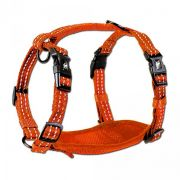 Alcott reflexní postroj pro psy oranžový, velikost M