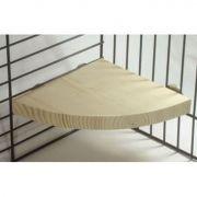 Karlie dřevěné patro/sedátko do klece pro hlodavce, 14x14x1,8cm