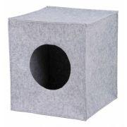 ANTON filcová krabice/jeskyně pro kočku, vhodné do IKEA regálu 33cm šedá